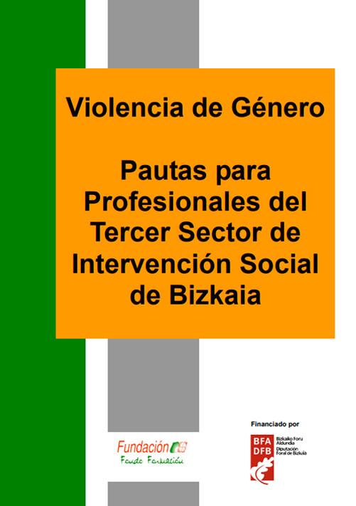 Violencia de Género, pautas para profesionales del tercer sector de intervención social de Bizkaia