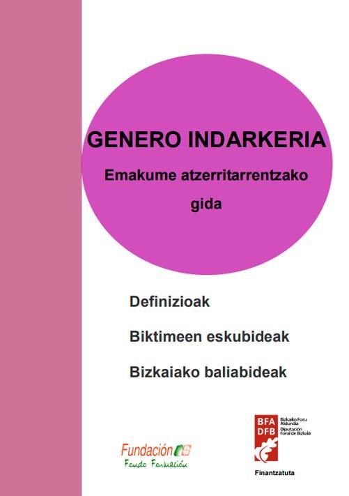 Genero-indarkeria: Bizkaiko esku-hartze sozialeko hirugarren sektoreko profesionalentzako jarraibideak